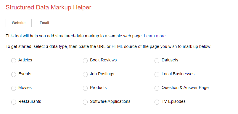 Strutured Data Helper - Google