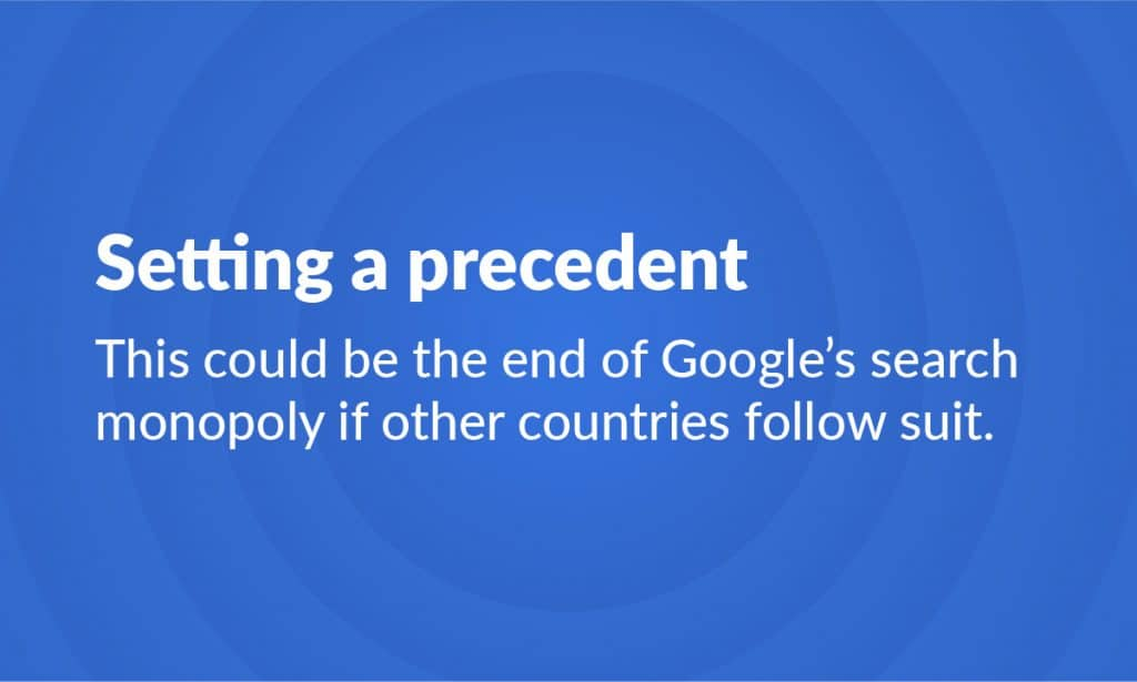 End of Google Search Monopoly
