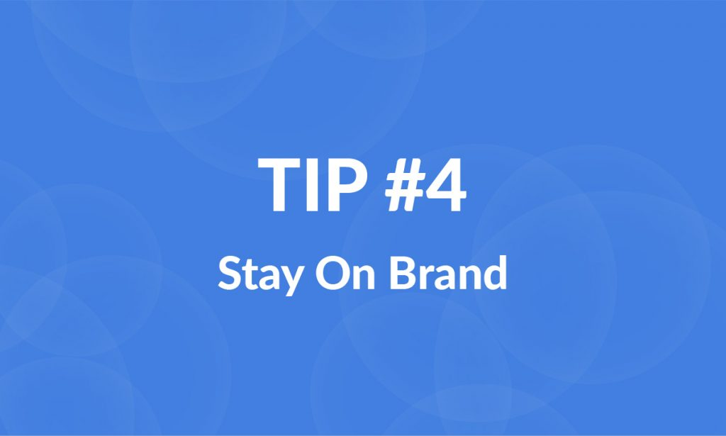 stay on brand for better landing pages