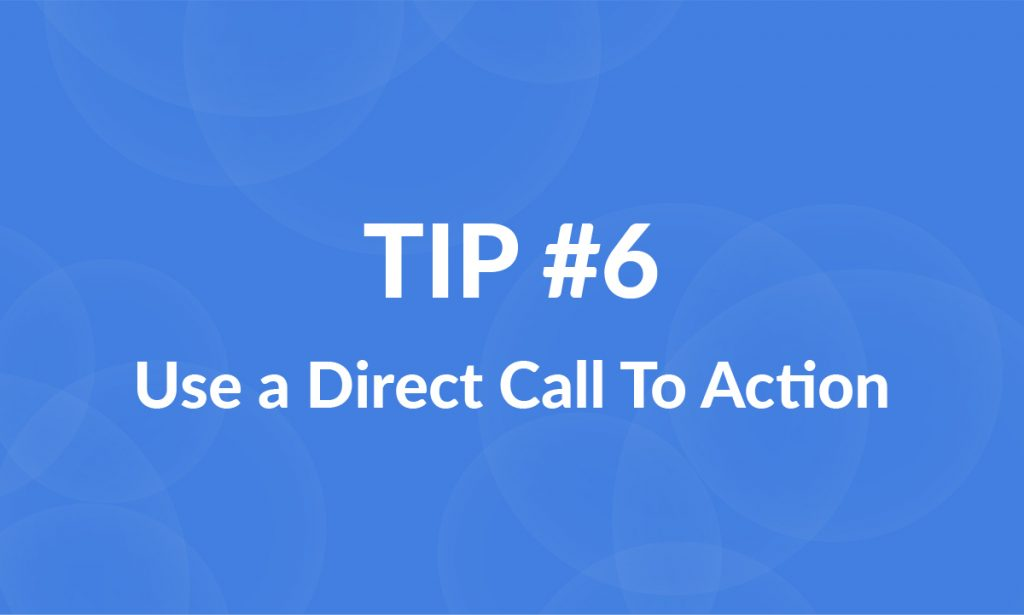 great landing pages use calls to action
